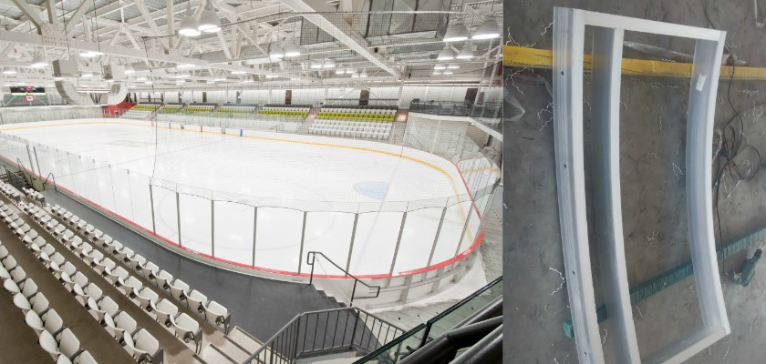 Ice Rink Barrier Polycarbonate Amp Acrylic Sheet For Ice