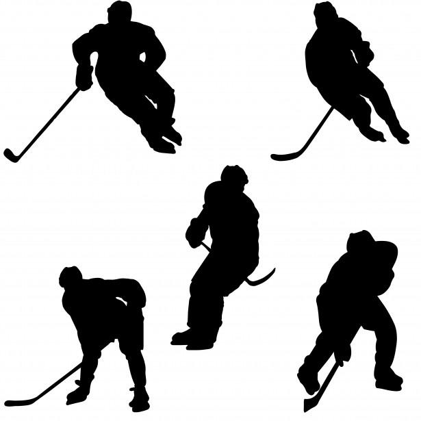 five-hockey-players
